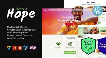 پوسته موسسه غیر انتفاعی و خیریه Hope وردپرس نسخه 2.1