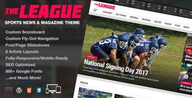 پوسته مجله خبری The League وردپرس نسخه 3.1.0
