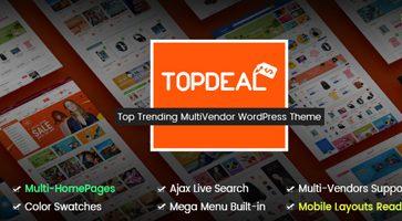 پوسته فروشگاه و چندفروشندگی TopDeal ووکامرس نسخه 1.4.0