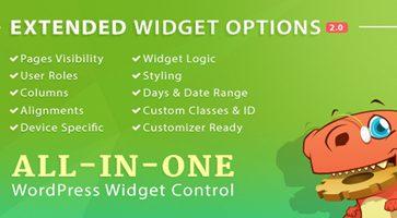 افزونه مدیریت ابزارک ها Widget Options وردپرس نسخه 4.6.1