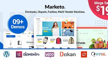 پوسته فروشگاهی و چندفروشندگی Marketo ووکامرس نسخه 1.0.8