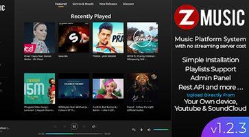 اسکریپت سایت موزیک Zuz Music نسخه 1.2.3