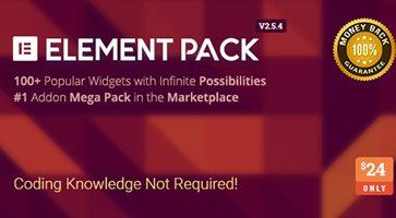 افزونه Element Pack افزایش امکانات صفحه ساز Elementor وردپرس نسخه 2.5.4