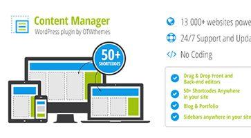 افزونه مدیریت انواع محتوا Content Manager وردپرس نسخه 2.17