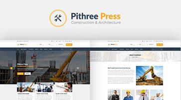 پوسته ساخت و ساز Pithree وردپرس نسخه 1.5