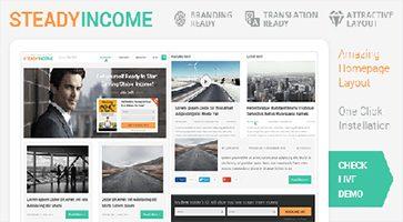 پوسته وبلاگی و شخصی SteadyIncome وردپرس نسخه 2.2.0