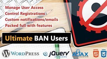 افزونه مسدود کردن کاربران WP Ultimate BAN Users وردپرس نسخه 1.5.3