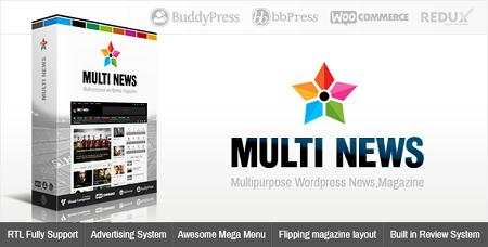پوسته مجله خبری Multinews وردپرس نسخه 2.5.1