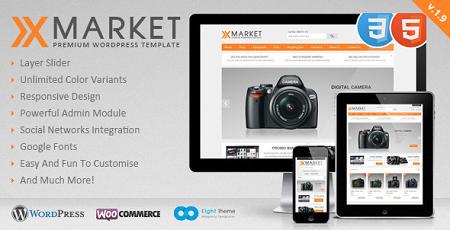 پوسته فروشگاهی XMarket ووکامرس نسخه 2.2