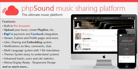 اسکریپت اشتراک گذاری موسیقی phpSound نسخه 1.2.4