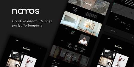 قالب HTML نمونه کارها Namos نسخه 1.0