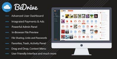 اسکریپت اشتراک گذاری فایل BeDrive نسخه 1.2.9