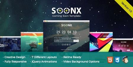 قالب HTML صفحه در دست ساخت SoonX