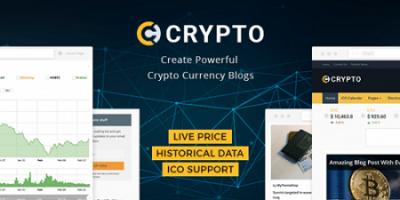 پوسته ارزهای دیجیتال Crypto وردپرس نسخه 1.0.17