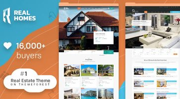 پوسته Real Homes ایجاد سایت املاک با وردپرس نسخه 3.10.1