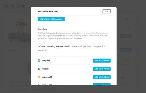 افزونه ایجاد نسخه پشتیبان Snapshot Pro وردپرس