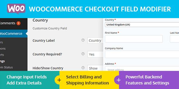 افزونه ویرایش فیلدهای تسویه حساب WooCommerce Checkout Field Modifier ووکامرس