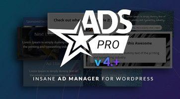 افزونه مدیریت تبلیغات Ads Pro Plugin وردپرس نسخه 4.3.1