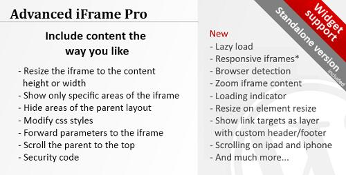 افزونه آی فریم پیشرفته Advanced iFrame Pro وردپرس