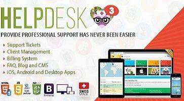 اسکریپت مدیریت تیکت و پشتیبانی HelpDesk 3 نسخه 3.1.1