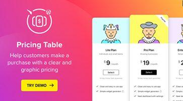 افزونه جداول قیمت Pricing Table وردپرس نسخه 2.2.0