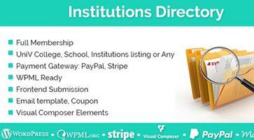افزونه دایرکتوری موسسات و شرکت ها  Institutions Directory وردپرس نسخه 1.1.9