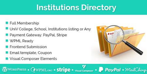 افزونه دایرکتوری موسسات و شرکت ها Institutions Directory وردپرس