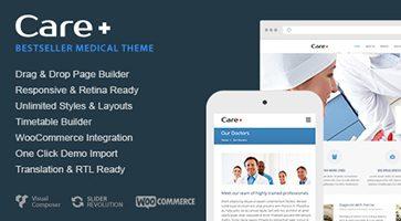 پوسته پزشکی و بهداشت Care وردپرس نسخه 4.6.7