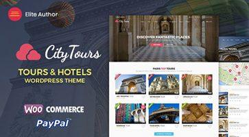 پوسته رزرو تور و هتل CityTours وردپرس نسخه 2.5.2