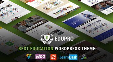 پوسته وبسایت آموزشی EduPro وردپرس 1.4.2