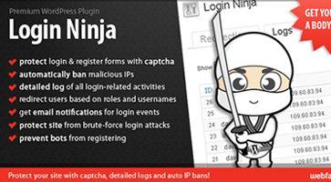 افزونه ورود و عضویت Login Ninja وردپرس نسخه 1.65