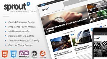 پوسته مجله خبری و وبلاگی Sprout وردپرس نسخه 1.7.7