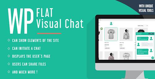 افزونه چت زنده و نمایش از راه دور WP Flat Visual Chat وردپرس