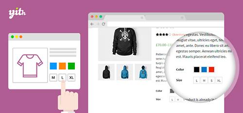افزونه برچسب و رنگ متغییر محصولات ووکامرس YITH WooCommerce Color and Label Variations