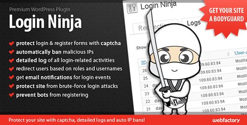 افزونه ورود و عضویت Login Ninja وردپرس