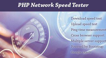 اسکریپت تست سرعت اینترنت PHP Network Speed Tester نسخه 1.2