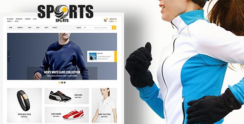پوسته فروشگاه محصولات ورزشی Sport Shop ووکامرس
