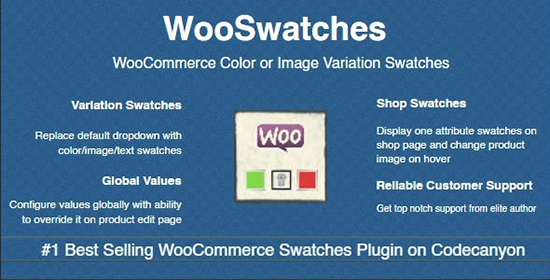 افزونه تصویر و یا رنگ متغییر محصولات متغییر WooSwatches ووکامرس