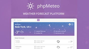 اسکریپت پیش بینی آب و هوا phpMeteo نسخه 1.6