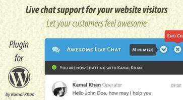 افزونه گفتگو آنلاین Awesome Live Chat وردپرس نسخه 1.4.2