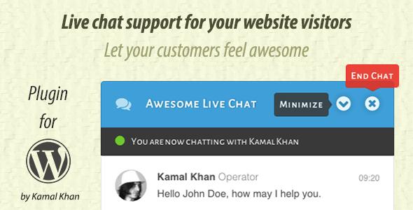 افزونه گفتگو آنلاین Awesome Live Chat وردپرس