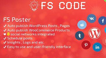 افزونه ارسال خودکار مطالب به شبکه های اجتماعی FS Poster وردپرس نسخه 2.8.4