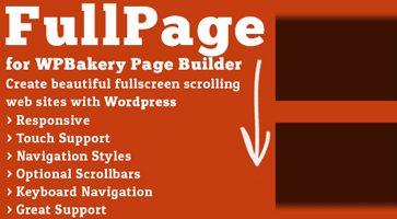 افزونه جانبی تمام صفحه FullPage صفحه ساز WPBakery وردپرس نسخه 2.0.7