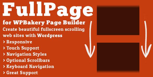 افزونه جانبی تمام صفحه FullPage صفحه ساز WPBakery وردپرس