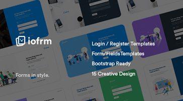 قالب HTML فرم ثبت نام و ورود Iofrm نسخه 1.0