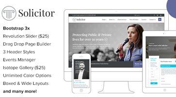 پوسته وکالت و دفاتر حقوقی Solicitor وردپرس نسخه 1.4.1