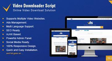 اسکریپت دانلود ویدئو Video Downloader Script نسخه 1.3