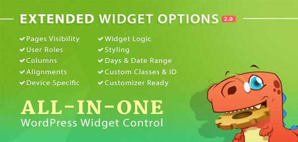 افزونه مدیریت ابزارک ها Widget Options وردپرس
