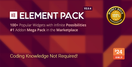 افزونه Element Pack افزایش امکانات صفحه ساز Elementor وردپرس