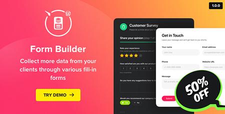 افزونه فرم ساز Form Builder وردپرس